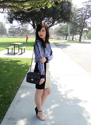 Wing Y. - Costa Blanca Bag, Free Bird Blouse, Forever 21 Skirt, Anne Michelle Heels - ALMOST MONOCHROME
