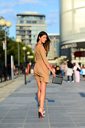 Julia Lundin - Christian Louboutin Shoes, Cos Dress - Back to London