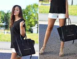 Josefine G - Vero Moda Shorts, Flash Top - Céline bag