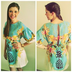 Roberta Rogge - Farmrio.Com.Br Pineapple Dress - Pineapple  Spring - Summer
