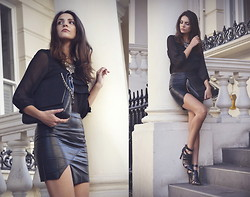STYLISSIM . - Choies Skirt, Zara, Zara - ALL IN BLACK