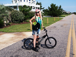 Audrey Kitching - Dimepeice, Karen London, Valley, Vera Wang, Vintage - Bike Beaching