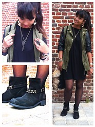 Karen Rakoto - Boots Jewelry, Bershka Dress - Ready for automn