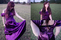 Ophelia Lacrima - Purple Wedding Dress, Arwens Evening Star Necklace - Purple Rain