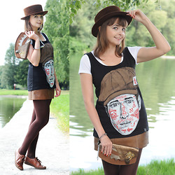 Tatiana Bezgodova - Up Dead Top, Handmade Clutch, Thomas Munz Sneakers - Steampunk clutch