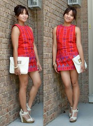 Aprelle K - Rachel Roy Shift Dress, Elle Sandals - In the mood for MOD