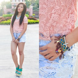 Glaiza Homez - Bayo Top, Invogue Shorts, Artickles Bracelet, Forever 21 Necklace - LACE
