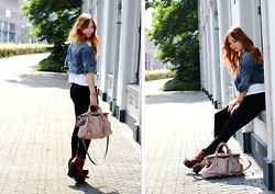 Sam C. - Miu Bag, Jeffrey Campbell Boots - The wardrobe staple