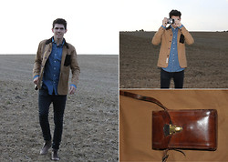 Marco Troiani - Bellfield Worker Jacket, Frank Wright Shoes, Ralph Lauren Vintage Denim Shirt, Vintage Camera Bag - Thank you ebay!