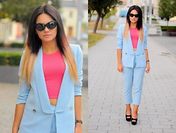Amazing Fashioon - Suit - BLUE SUIT