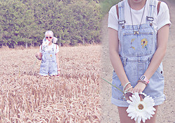 Katherine Au-Yong - Thrifted Sunflower Dungarees - 300813