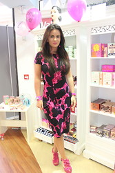 Nicola McLaughlin - Topshop Dress, Juicy Couture Bracelet, Juicy Couture Watch, Cherries Earrings, Topshop Heels - Benefit Cosmetic Party