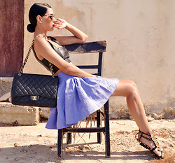 Konstantina Tzagaraki - Skirt, Sandals, Sunglasses, Chanel Bag - That place where you can still remember dreaming..