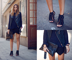 Lisa Olsson - Zara Sweater, Frontrowshop Navyblue Vest, Marc By Jacobs Watch, Frontrowshop Clutch, Zara Shorts, Jennie Ellen Shoes - Mercedes-Benz Fashion Week