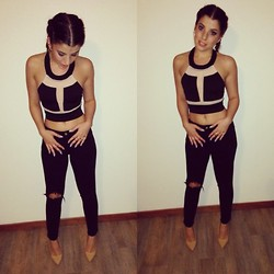 Kay M. - Nasty Gal Top, Zara Trousers, New Look Pumps - Yesterday night