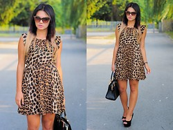 Amazing Fashioon - Dress, Bag, Sunglasses - Leopard Dress