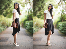 Megan C - Steve Madden Bag, H&M Blouse, Roberto Vivanni Heels, High Low Skirt, Front And Company Bracelet - The pursuit of knowledge