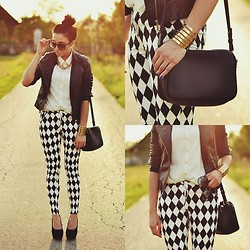 Pam S - Choies Pants - Black&white outfit
