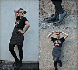 Sanni A - Dr. Martens Shoes, Sailor Jerry Shirt - Sailor Jerry