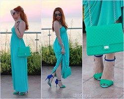 Call me M - Fullah Sugah Bag, Zara Sandals - Minty fresh