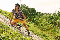 Jason Jase Jamolin - Peoplearepeople Tank Top, Penshoppe Outdoor Mid Short, Vince Button Down Chiffon - Urban Bucolic