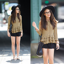 Olympia C - Choies Blouse, Primark Shorts, H&M Hat - Chelsea Girl