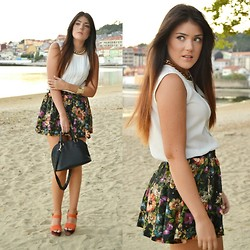 Alexandra Amaro Cortizo - Zara Skirt, Zara Sandals, Primark Bag, Primark Necklace - Lady flowers