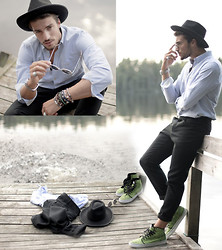 Mariano Di Vaio - Rick Owens Trousers, Vans, Borsalino Hat - High Hopes (www.mdvstyle.com)