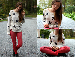 Gabriella K - Only Sweater, Crocker Red Jeans, Vox Shoes - The American dream, baby