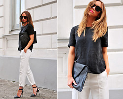 Lisa Olsson - Imso Cat Eye Sunglasses, &Other Stories Top, Topshop Pants, Frontrowshop Clutch, Nelly Shoes - Less is more...at least sometimes