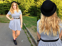 Kayleigh Jean - Urban Outfitters Bowler Hat, Primark Belt, Primark Cut Out Jersey Dress, Primark Cut Out Boots - Just a Quickie
