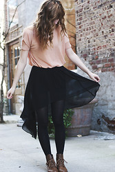 Kay H - Pacsun Boots, Forever 21 High Low Skirt - I still love fashion..