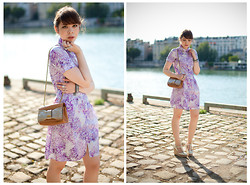 Jessica D - Comptoir Des Cotonniers Dress, Chloé Bag, Chloé Wedges - Waterlilies