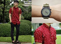 Stephen Garcia - Cotton On Eagle Button Down Shirt, Cotton On Smart Watch, Cotton On Clubmaster Glasses - Stay Classic
