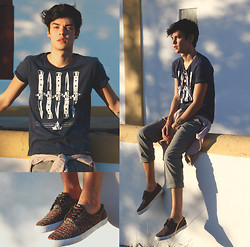 Vini Uehara - Estilo Certo Knife T Shirt, Estilo Certo Pants, Estilo Certo Sneaker - Waiting for Sunset