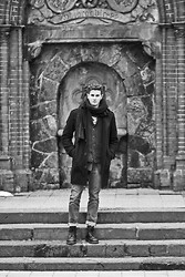 Patrick Daniel - Borrowed Coat, Zara Scarf, Saks Sweater, Wesc Denim, Dr. Martens Shoes - Gardian of the underworld