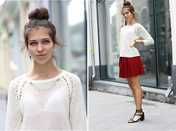 Sasha Kiseleva - Asos Jewelry, H&M Sweater, H&M Vinous Skirt - Do you know my sister?