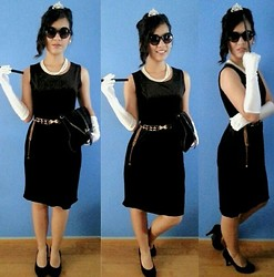 Anna Ordonez - Gue Velvet Body Dress - Breakfast at tiffany's ♥
