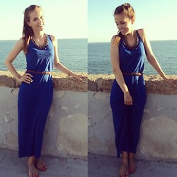 Sonja Shoppisticated - H&M Dress, Zara Necklace, Zara Shoes - Blue like the sea