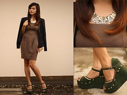 Danica Salazar - Oasap Animal Print Necklace, Thrifted Chained - Chains and glam