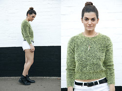 Emilie Layla Lovaine - Motel Rocks Sweater, Billabong Denim - Green days
