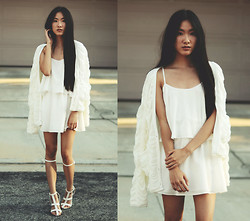 Jennifer Wang - Sophiscat Ruched Cardigan, Lovers + Friends Sunkissed Dress, Choies Gladiator Sandals - UTOPIA