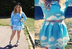 Kayleigh Jean - Choies Two Piece, Choies Two Piece, Urban Outfitters Hat, Topshop Socks, New Look Newlook Sandals - Choies