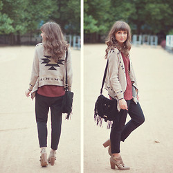 Maddy C - Cardigan, Boots, Bag - Here we go again :)