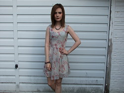 Courtney Melville - New Look Necklace, Boohoo Dress, New Look Bracelets - She fights, to find her way
