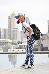 Aiiness .com - Forever 21 Polka Dot Denim Pant - Ask activity skills