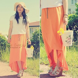 Christine Dior (Discover Fashion Author) - River Island Hem Maxi Skirt - Summer love