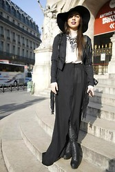 Ecaterina C - Asos Hat, Necessary Clothing Jacket, Zara Leggings, Katerinimou Necklace - Wanted:: lost witch