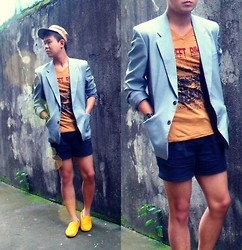 Anthony Shieh - Vintage Classic Gray Coat, Jack Street Biker Top, Terranova Shorts, M Sense Aztec Cap, Fossil Wristwatch, Milano Aureolin Loafers - It all moves into one slow burn devotion.