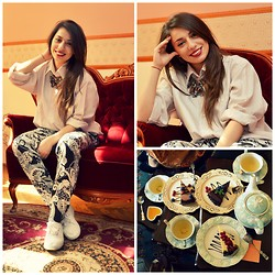 Ecaterina C - Vintage Shirt, Topshop Pants - Tea break